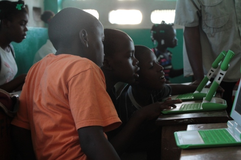 Image from UnleashKids.org of St. Andre's students