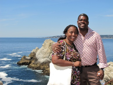 Father Noe and his wife Sherly enjoying the beauty of Pt. Lobos