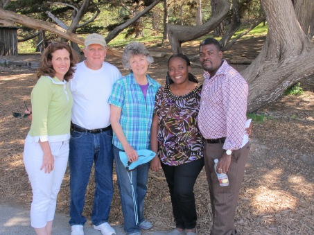 At Pt. Lobos with Kim Murray and Rich and Tammy Hawkins