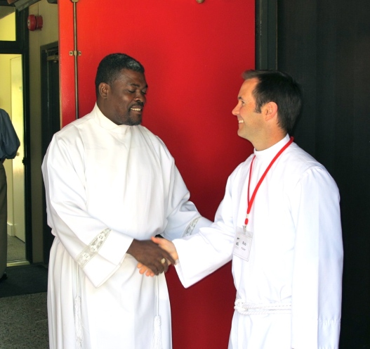Father Noe Bernier and Father Rob Fischer