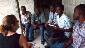 Meeting with (from L) Marc, Supreme, Shester, Neilson, and Evens
